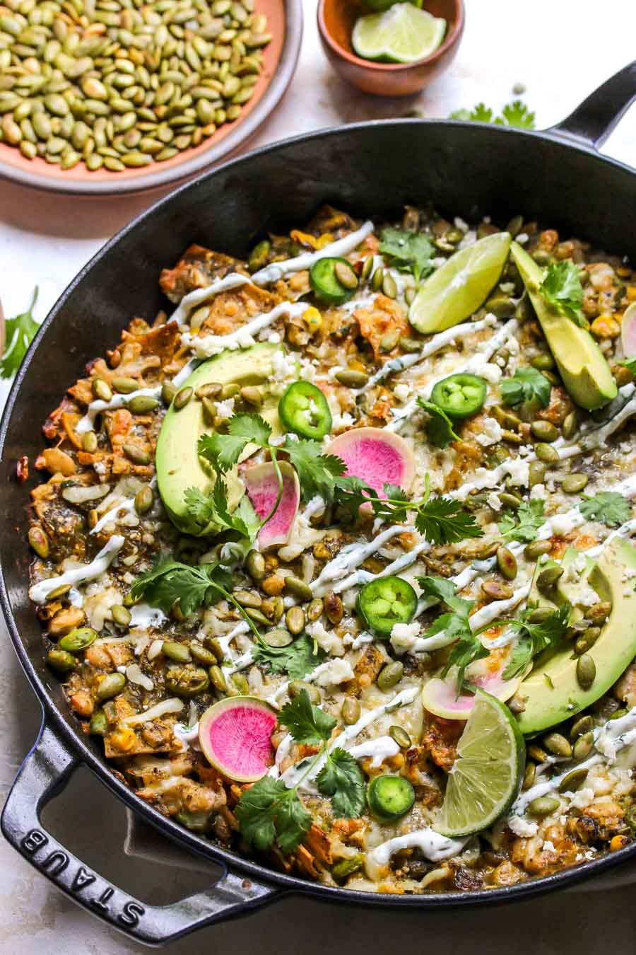 Skillet Poblano and Pumpkin Enchiladas