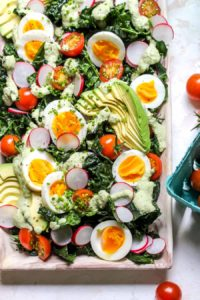 Kale Cobb with Cashew-Poblano Dressing