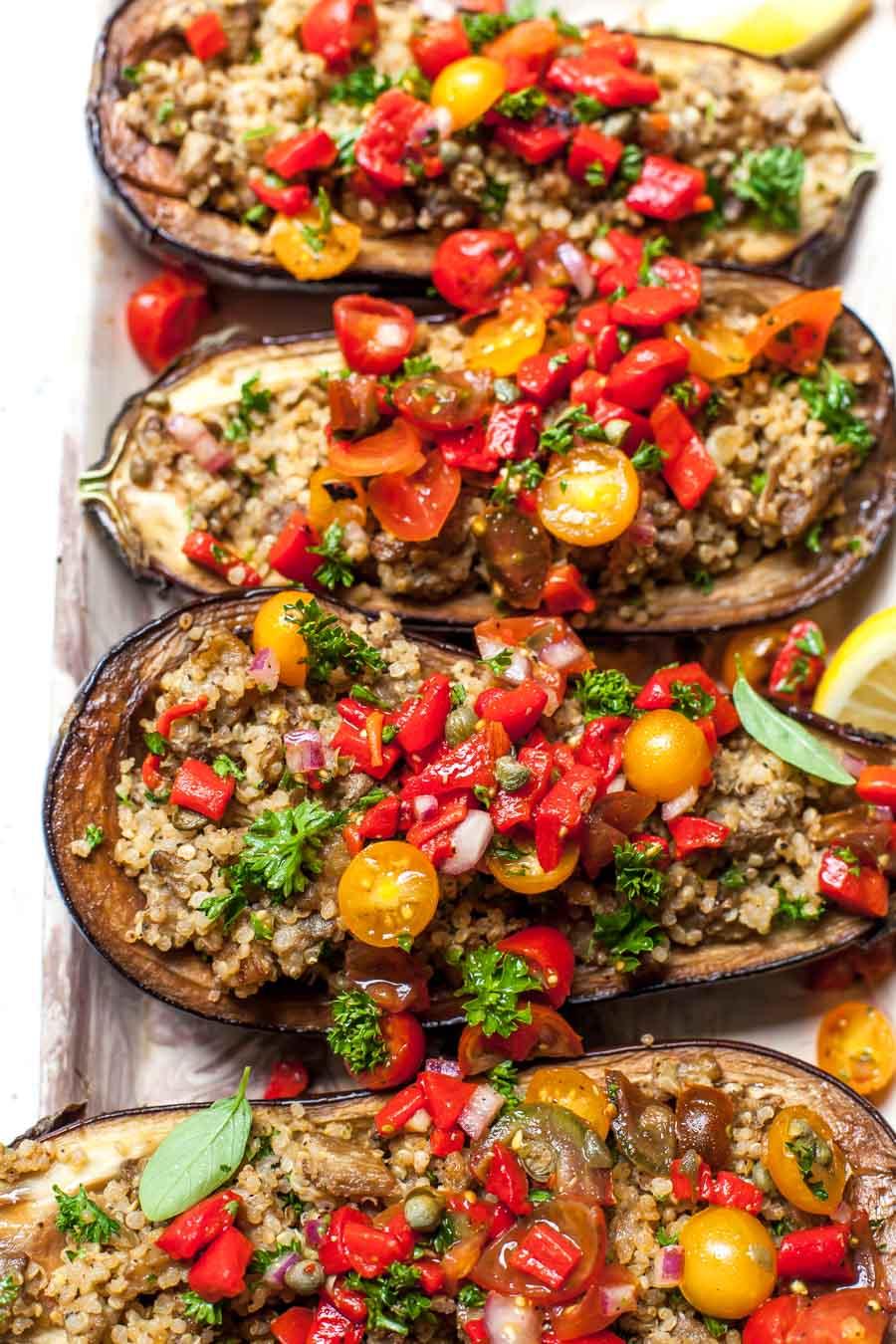 Mediterranean Eggplant Boats