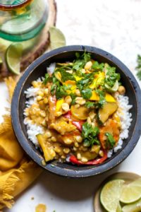 Summer Vegetable Curry with Mango Salad