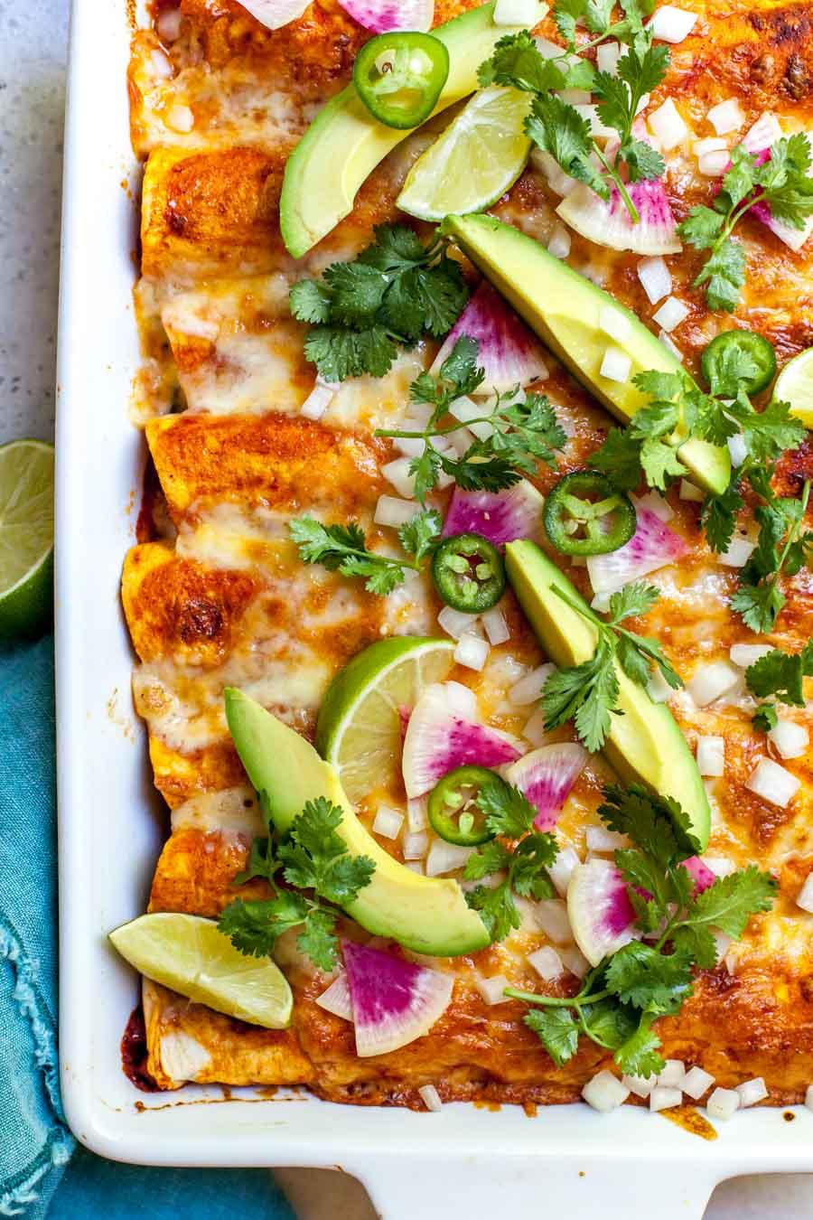 High Protein Vegetarian Enchiladas