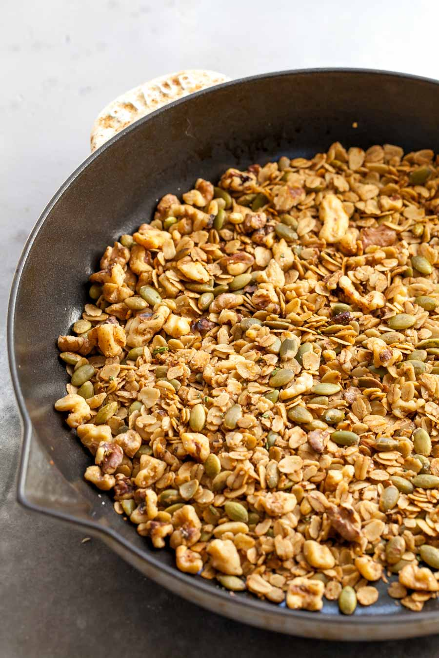 Stovetop Savory Granola with Rosemary