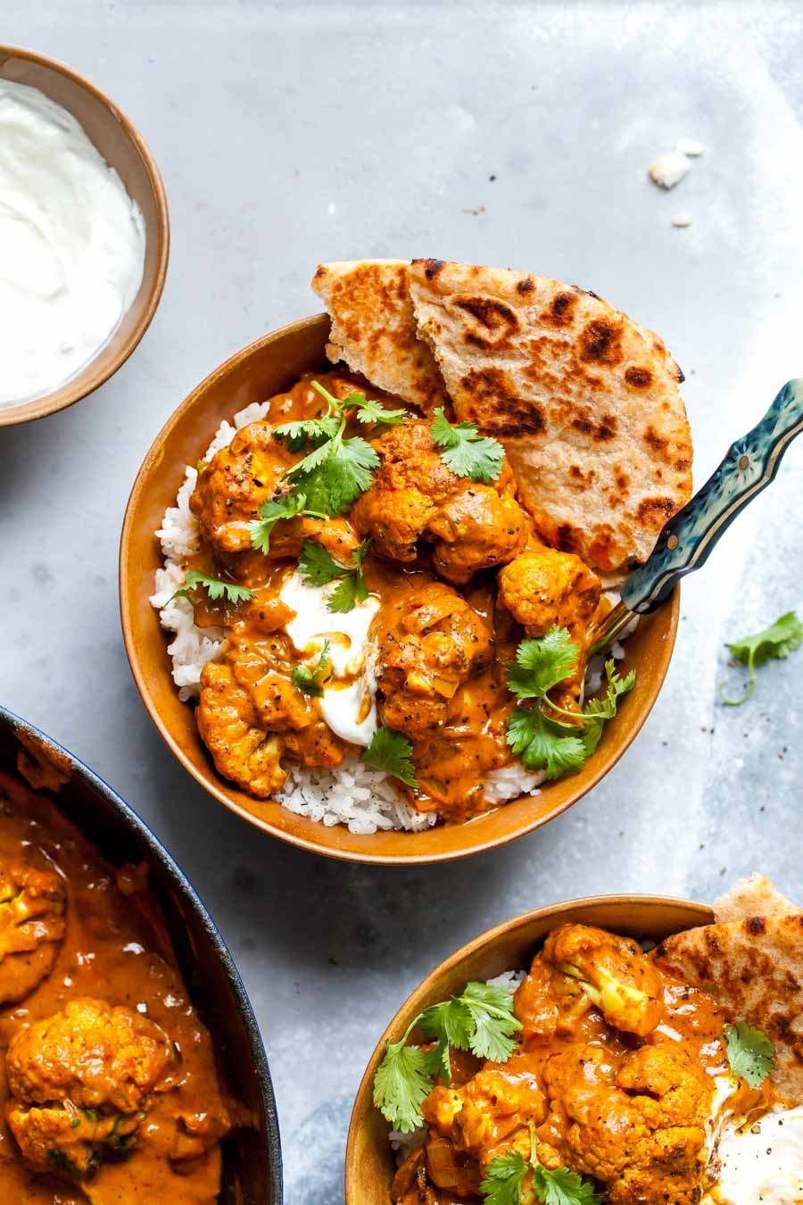 A vegetarian version of Butter Chicken using cauliflower