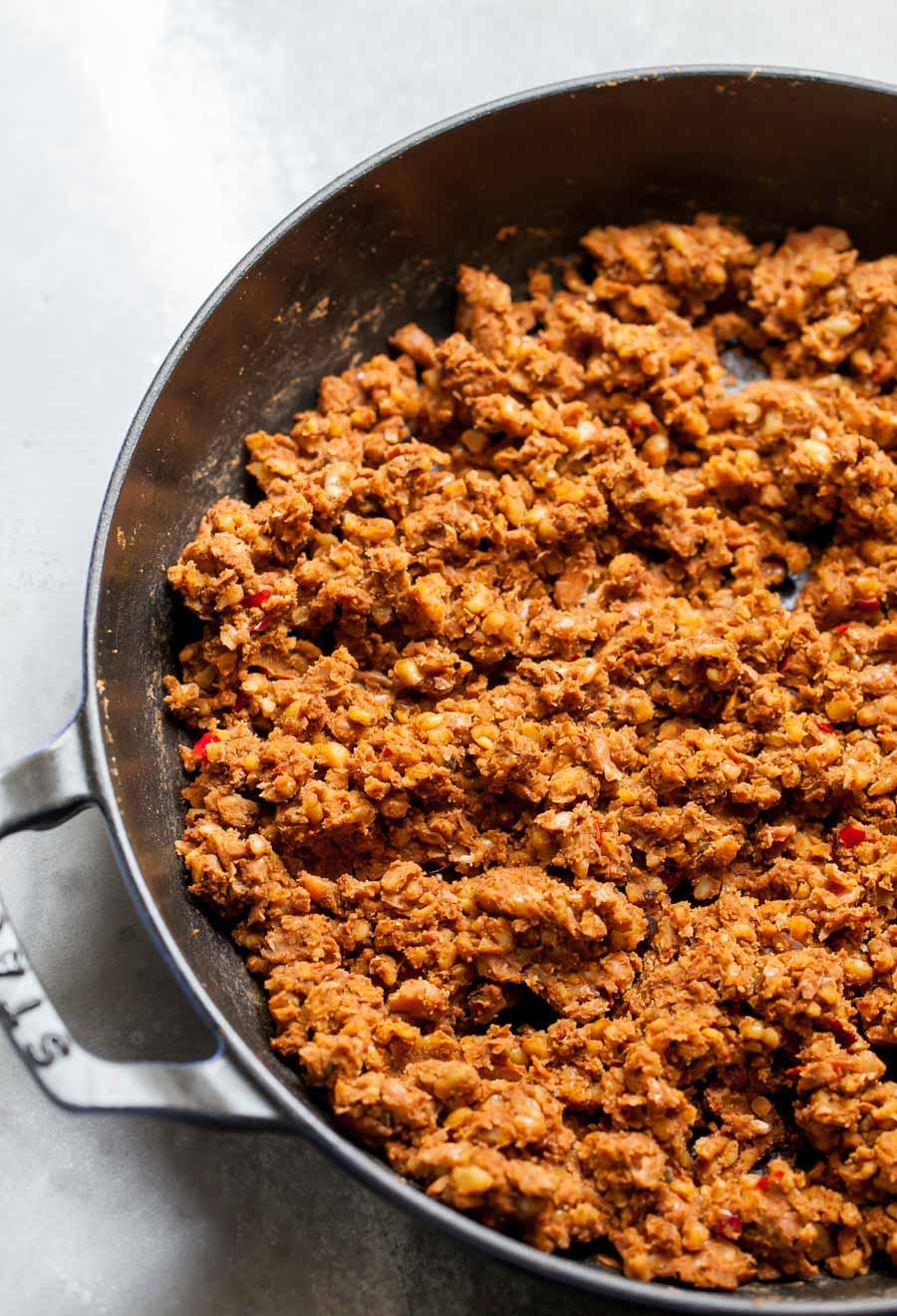 Plant-Based Crumbled Walnut Chorizo