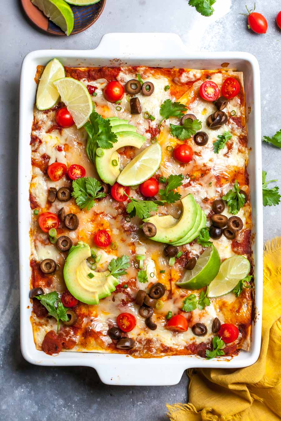 Vegetarian Taco Lasagna with Chorizo-Style Pinto Beans