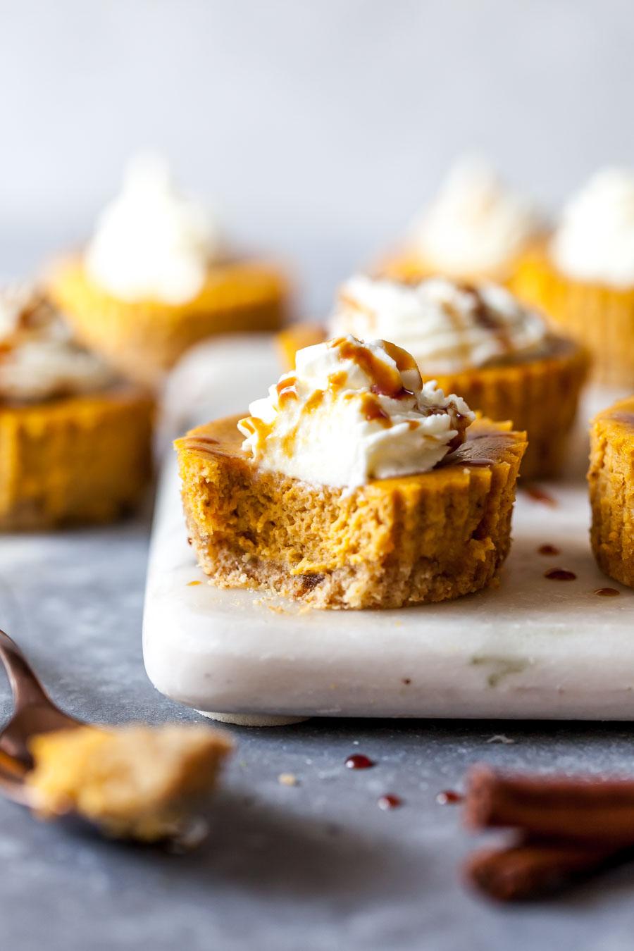 Gluten Free Mini Cheesecakes for Fall