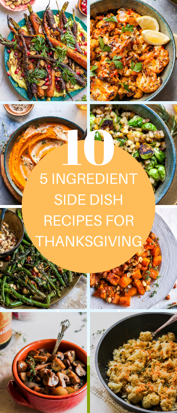 5 INGREDIENT SIDE DISH RECIPES FOR THANKSGIVING