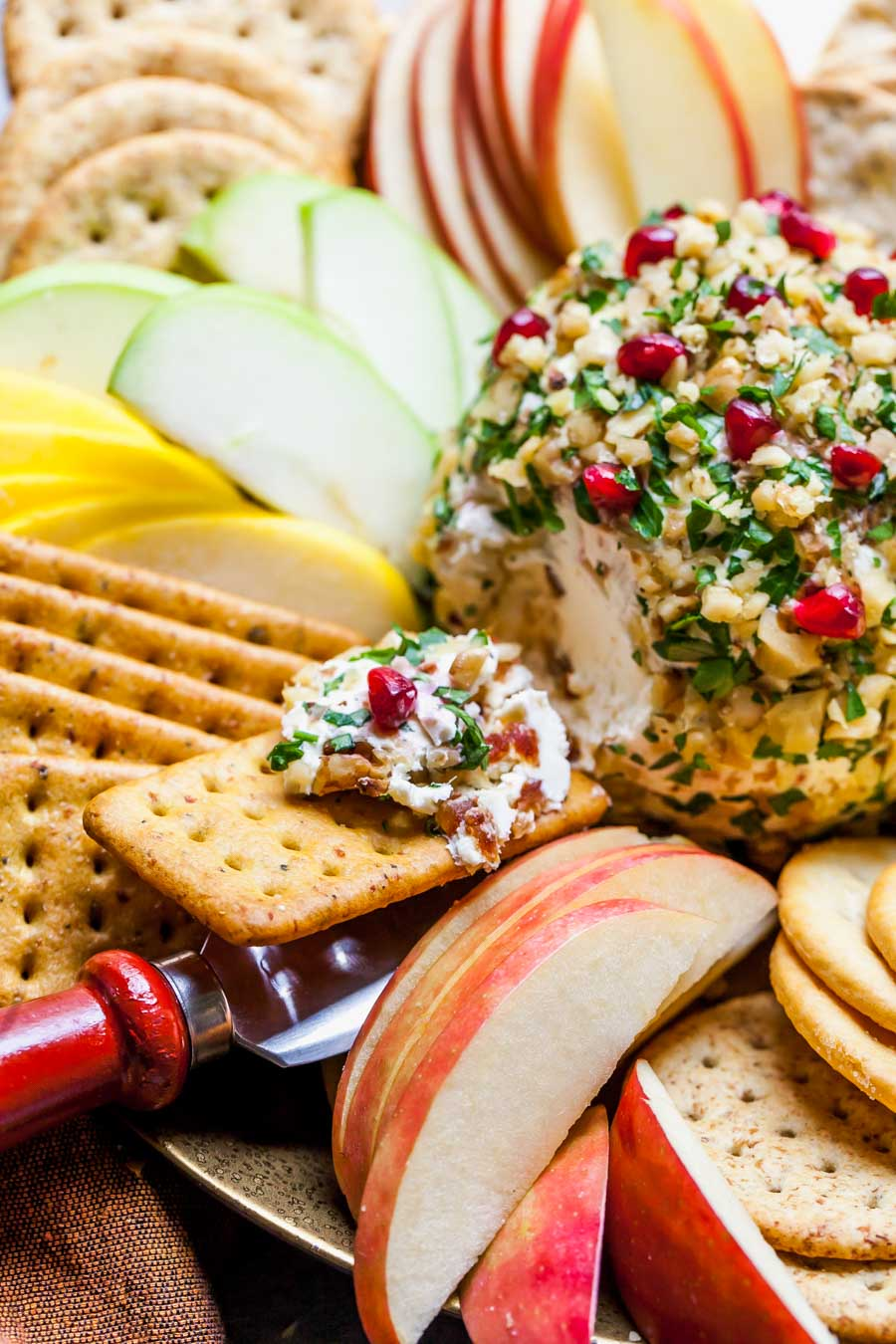 Walnut, Date, and Parsley Goat Cheese Ball