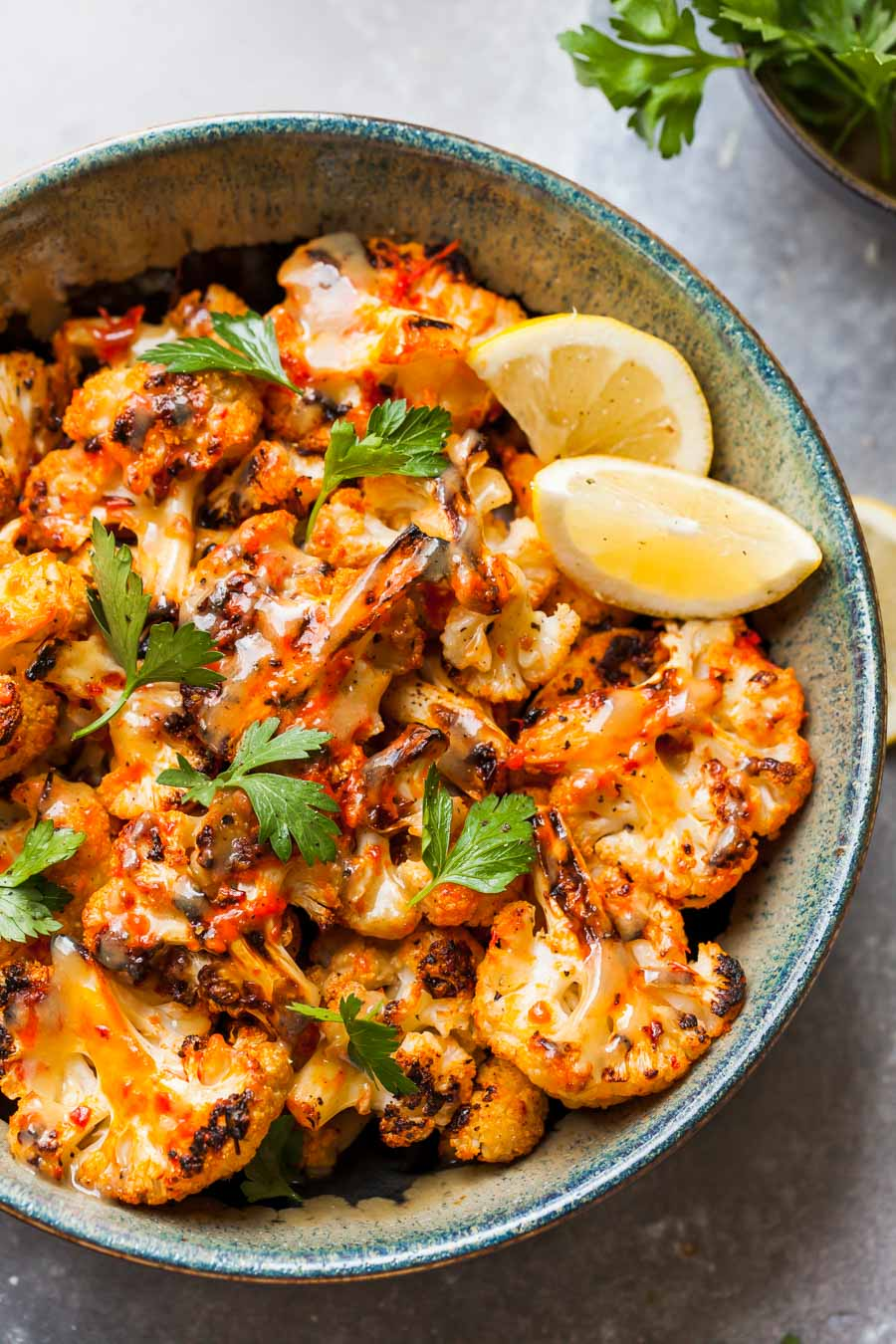 Harissa-Roasted Cauliflower Side Dish with Tahini