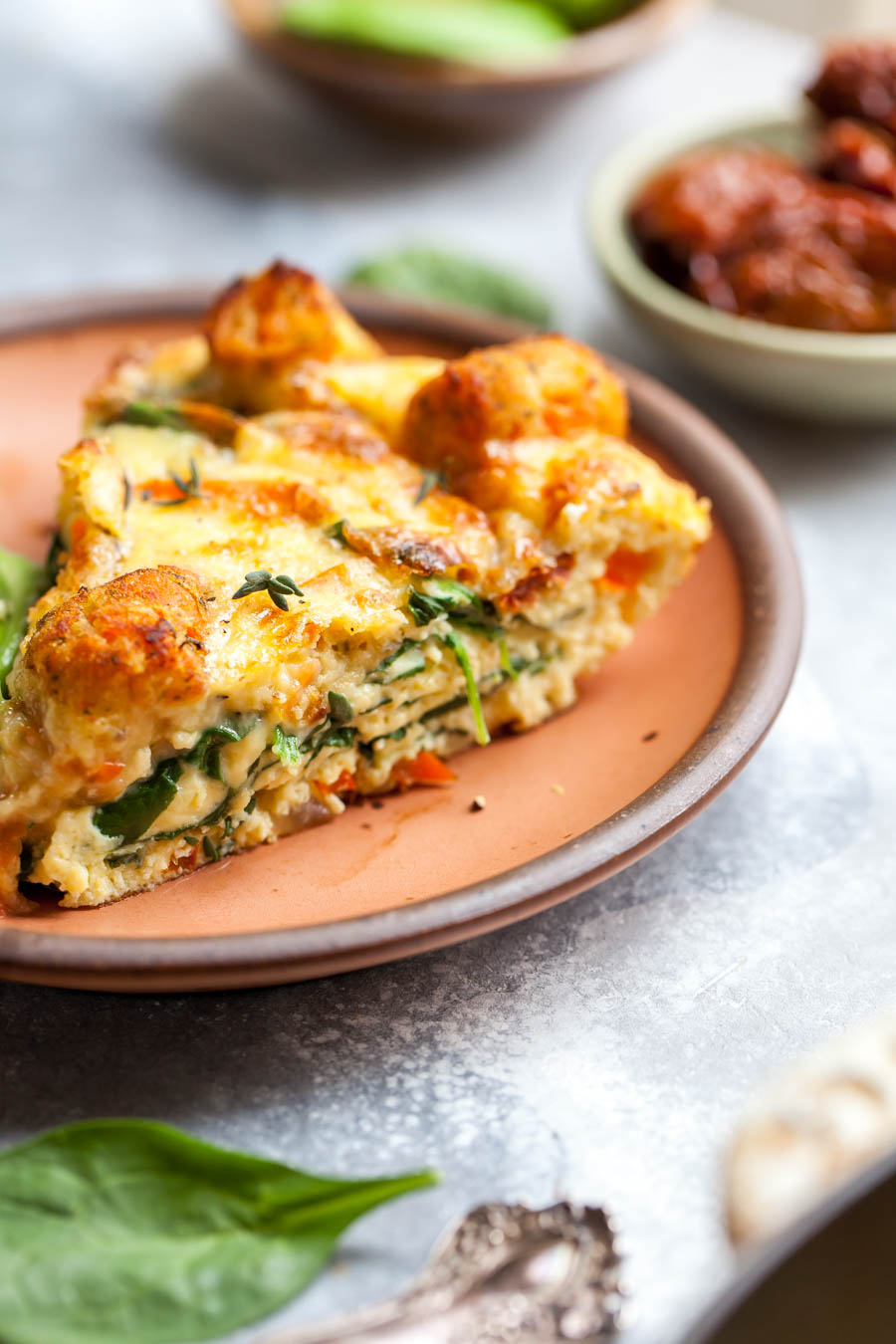 Cheesy Breakfast Bake with Vegetables and Tater Tots