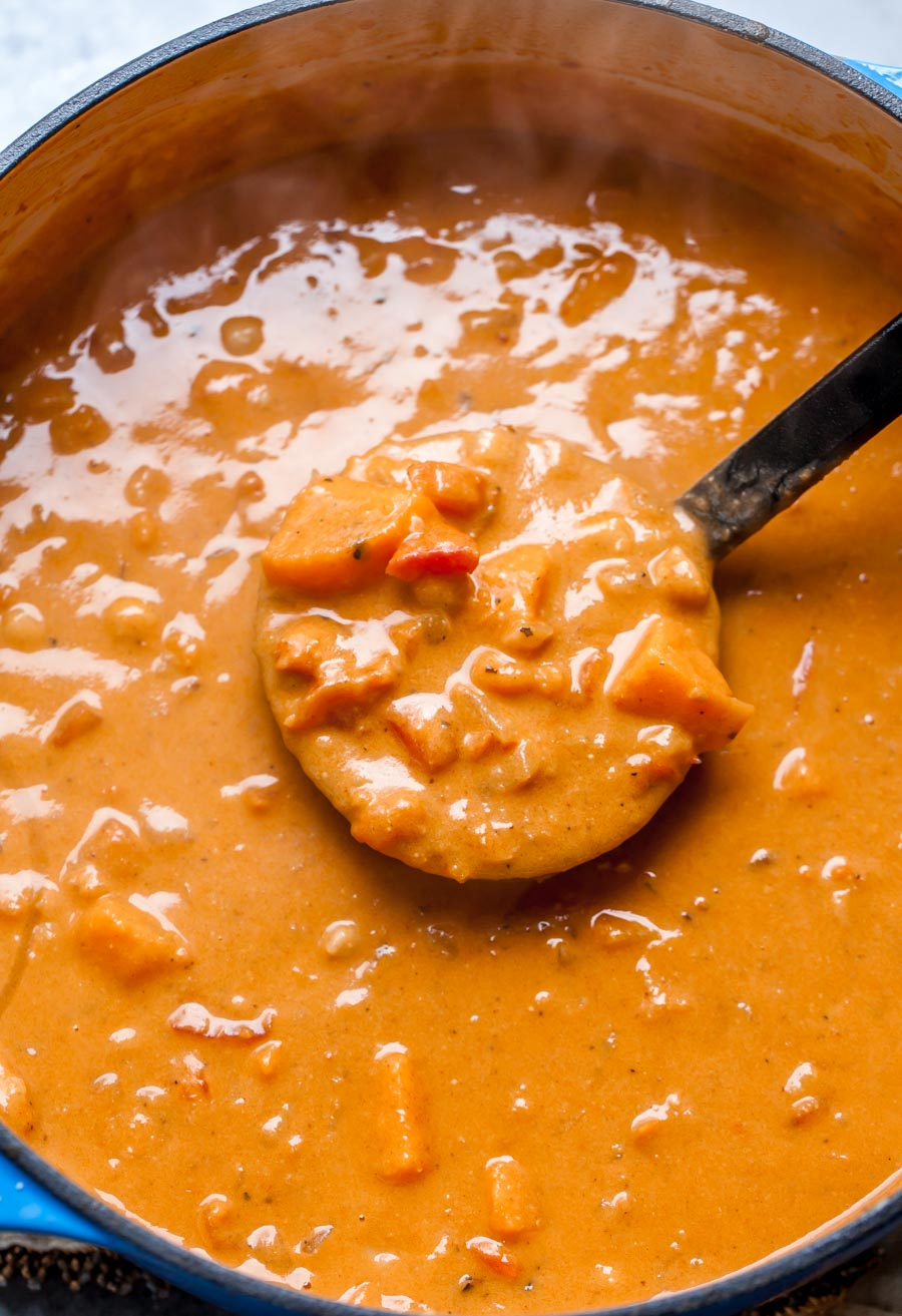 One Pot Vegan Sweet Potato and Chickpea Peanut Stew