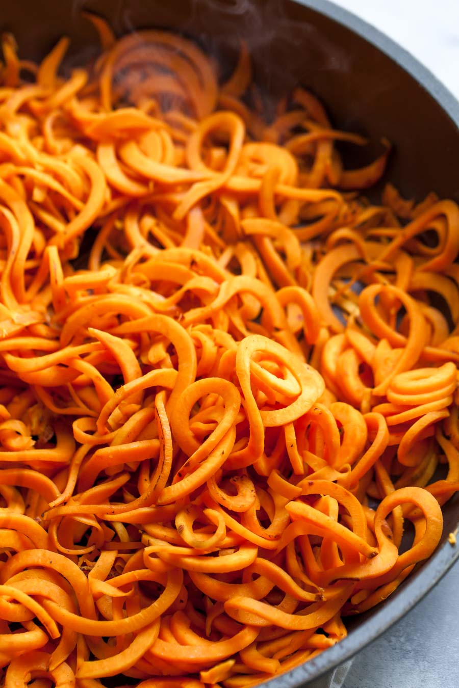 How to Make Spiralized Sweet Potato Noodles