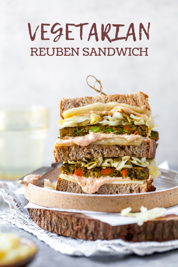 20 Minute Vegetarian Reuben Sandwich Recipe with Yogurt-Based Russian Dressing