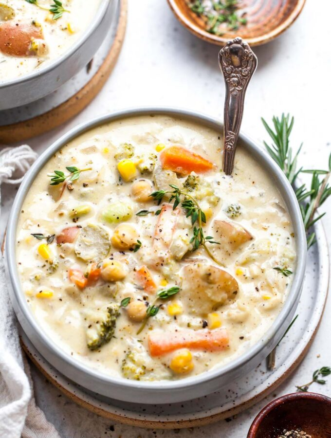 One Pot Creamy Vegetable Soup (without cream)