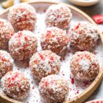 Strawberries and Cream Energy Balls Rolled in Coconut (Vegan, Paleo, and Refined Sugar-Free)