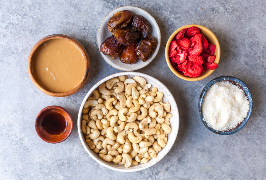 Ingredients for No-Bake Energy Bites
