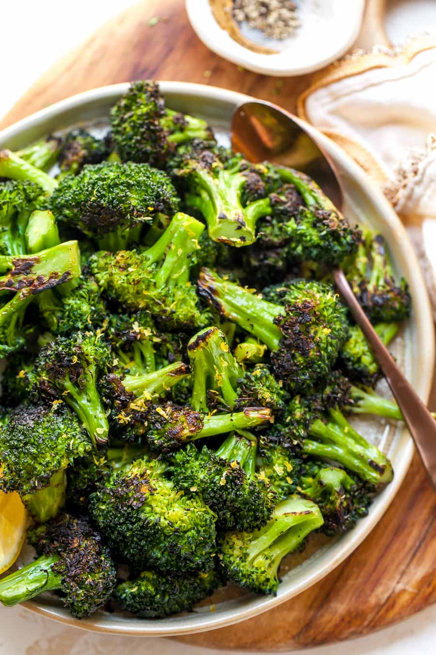 Sauteed Broccoli in the Skillet with Lemon and Garlic