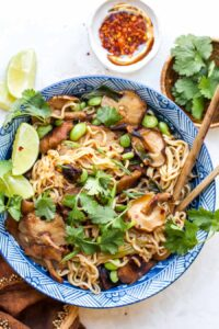 Spicy Ramen Noodle Bowls with Mushrooms (30 Minutes)