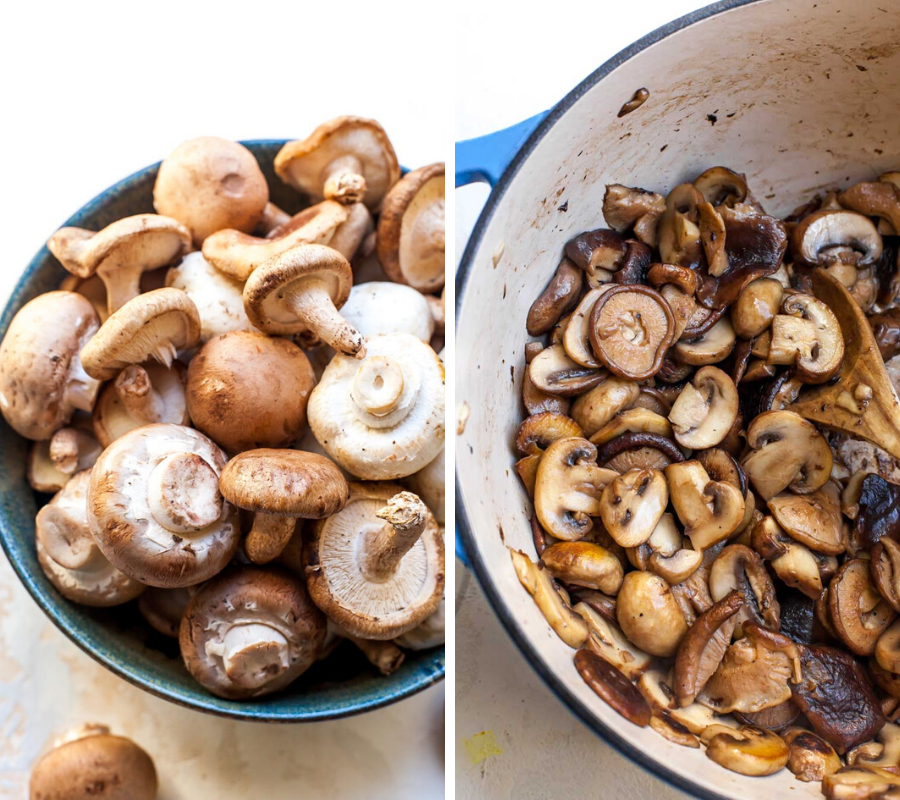 Mixed Mushrooms (White Button, Baby Bella, and Shiitake) for Mushroom Soup