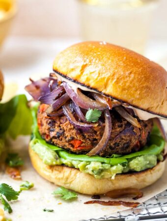 Healthy, Homemade Black Bean Burgers with Chipotle Spice
