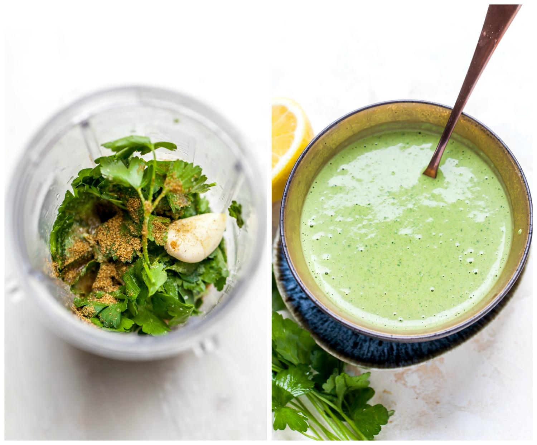 How to Make Green Tahini Sauce (Step-by-Step)