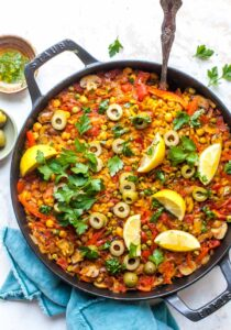 Vegetable Paella with Parsley Oil