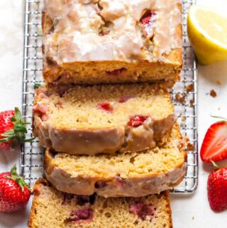 Strawberry bread sliced