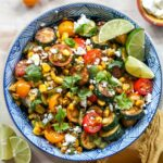 Zucchini and Corn Salad with chili-lime vinaigrette