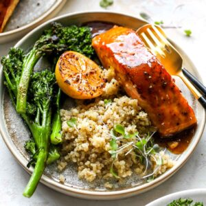 Curried Maple-Mustard Salmon