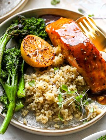 Curried Maple-Mustard Salmon