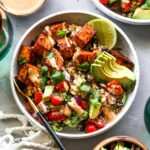 Sweet Potato Burrito Bowls with Chipotle-Lime Tahini Sauce