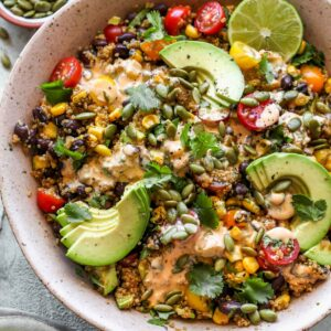 Quinoa Southwest Salad with Creamy Chipotle Dressing