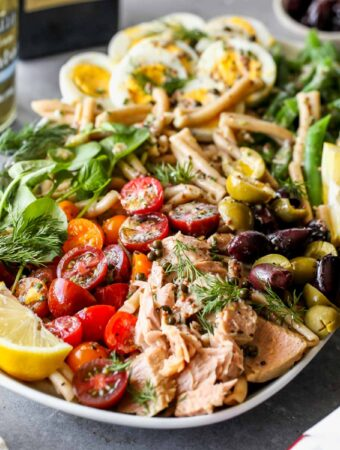 Tuna Niçoise Pasta Salad with Herb Vinaigrette