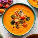Creamy Tomato Basil Soup (Vegan + 30 Minutes)