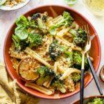 Lemon Butter Broccoli Pasta with Basil Breadcrumbs