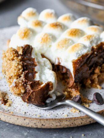 No Bake Healthier S'mores Pie