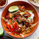 Gochujang Tofu and Rice Bowls with Pickled Vegetables