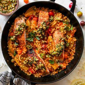Mediterranean Salmon Skillet