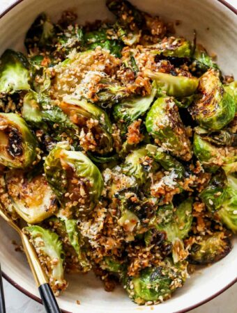 Miso-Sesame Glazed Brussels Sprouts