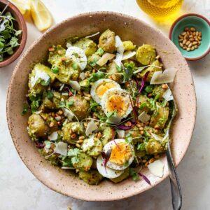 Pesto Potato Salad (No Mayo)