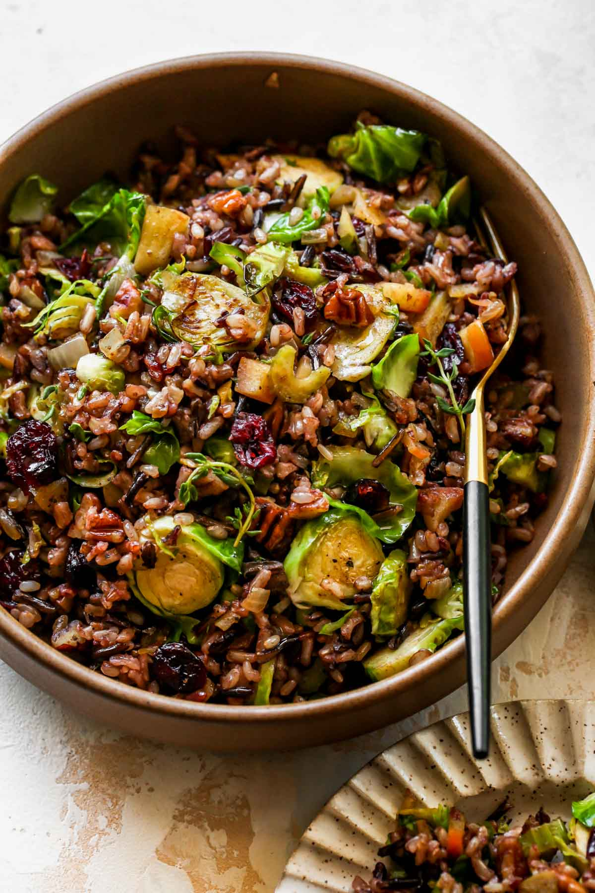 Wild Rice Pilaf in a serving bowl