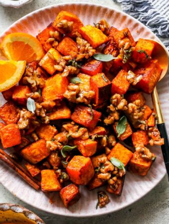 Roasted Butternut Squash with Candied Walnuts